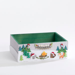 Woodland Animals' Holiday Keepsake Box