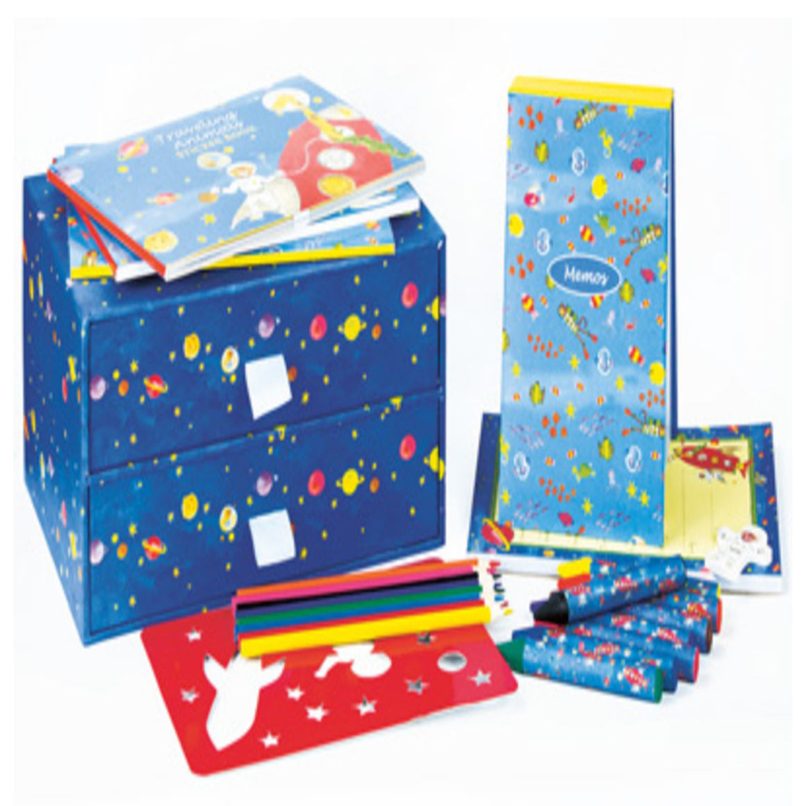 Traveling Animals Two Drawer Activity Box