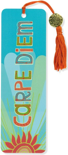 Carpe Diem Beaded Bookmark