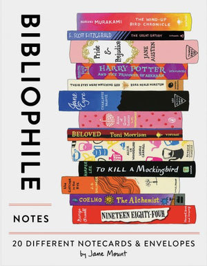 Bibliophile Notes: 20 Different Notecards & Envelopes