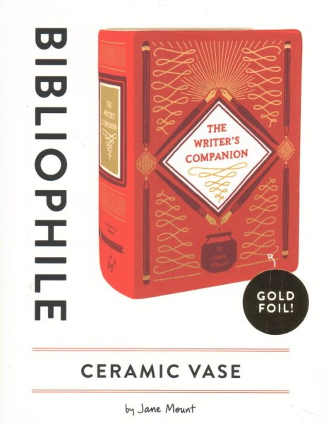 Bibliophile Ceramic Vase: The Writer's Companion