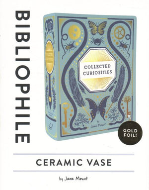 Bibliophile Ceramic Vase: Collected Curiosities