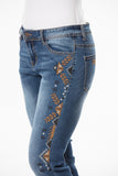 'Wild Child' Casey- Bling Stretch Jeans - Outback Supply Co