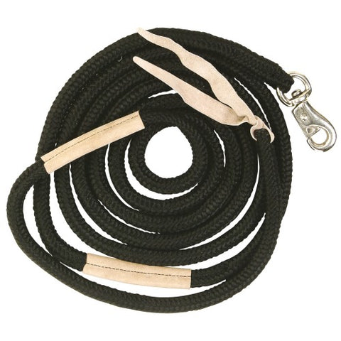 "Leather Handgrip Training Rope 12'0""/3.66M w/Bull Snap"