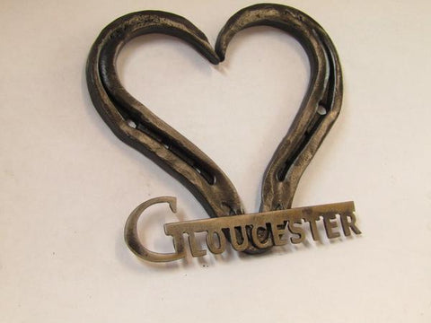 Personalized Forged Horse Shoe Heart