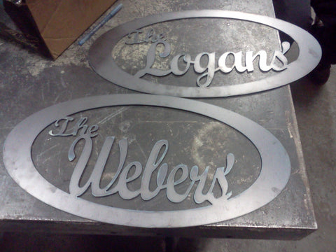 Custom- Name metal signs