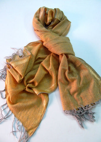 Handwoven wool scarf