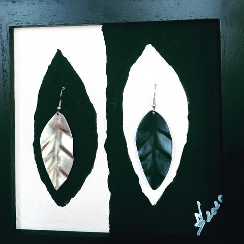Handpainted Canvas with Handmade Jewelry (gallery piece)