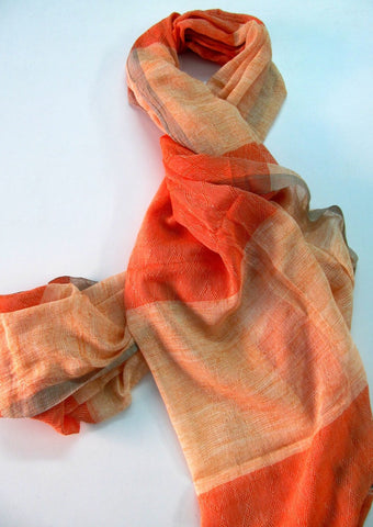 Handwoven cotton jacquard scarf