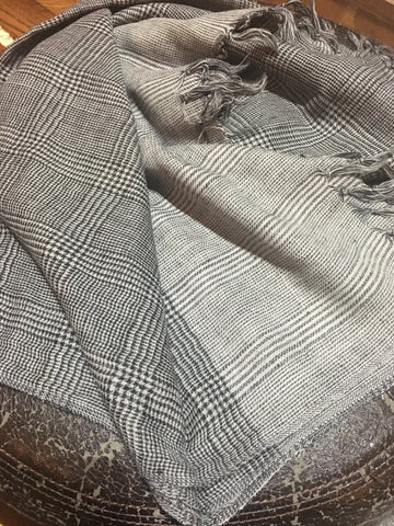 Pure wool - Black and White checks