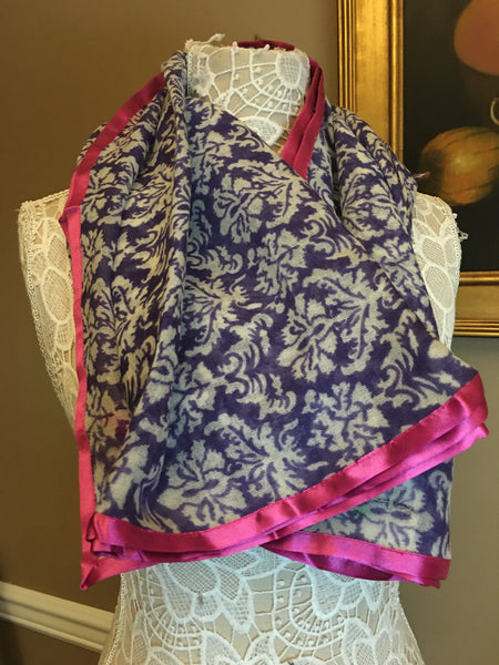 Pure Wool - Purple with Satin border