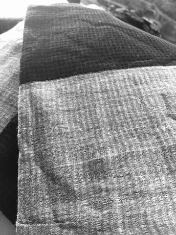 BLACK AND WHITE  BIG CHECK HANDWOVEN