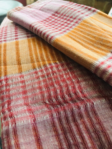 MULTI COL STRIPE HANDWOVEN REED GAPS