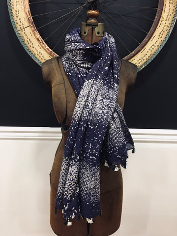 Silk Cotton batik scarf