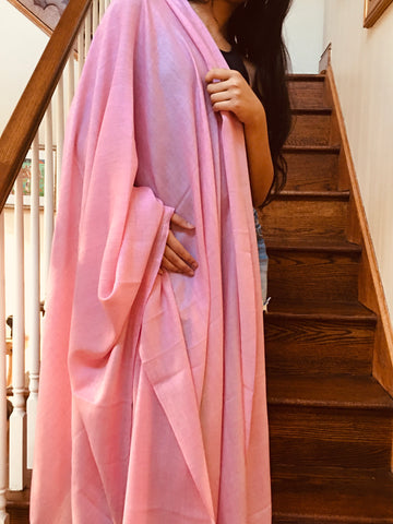 Large Poly Wool Scarf - Light Pink