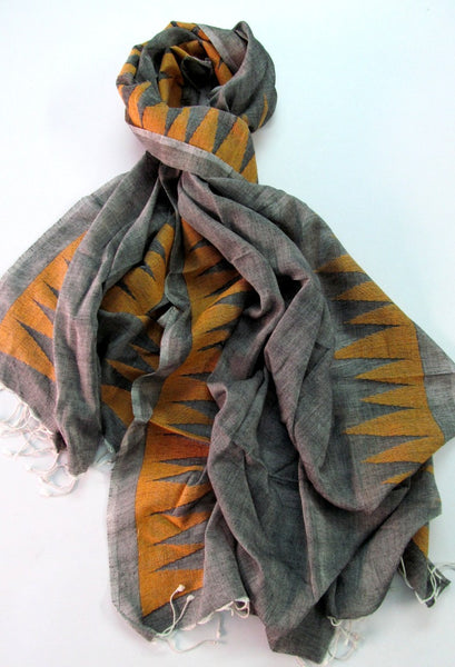 Handwoven Jaamdani Cotton Scarf