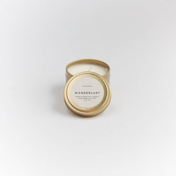 Slow North - Travel Tin Candles | Wanderlust  (6 Oz)