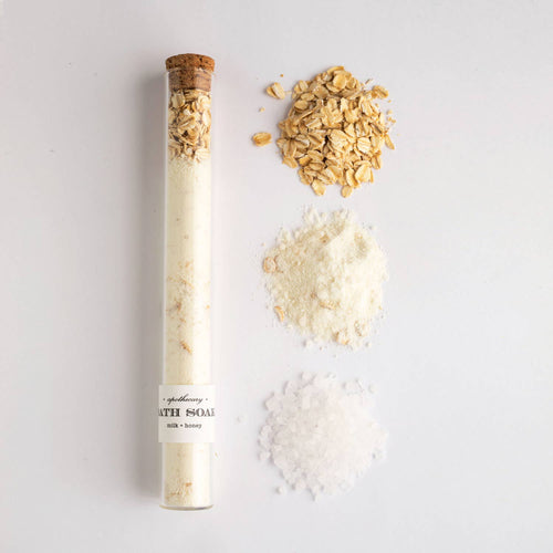 Milk + Honey : Bath Soak Glass Tube