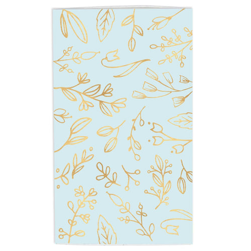Large Match Box: Pastel Blue & Gold