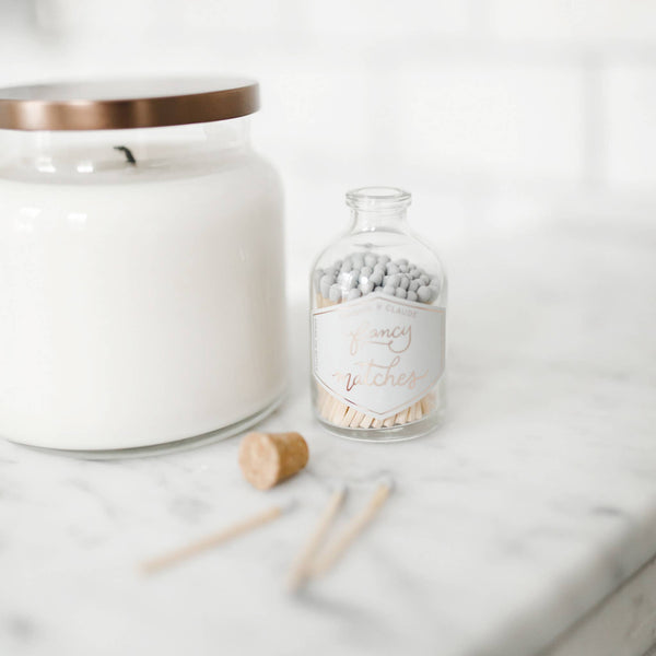 Frankie & Claude - Fancy Matches: Pale Blush Pink Small Match Jar