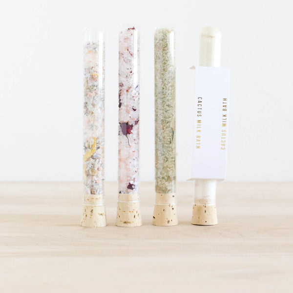 Bath Salt Soak - Tubes (Cactus, Rose, Lavender, Aloe)