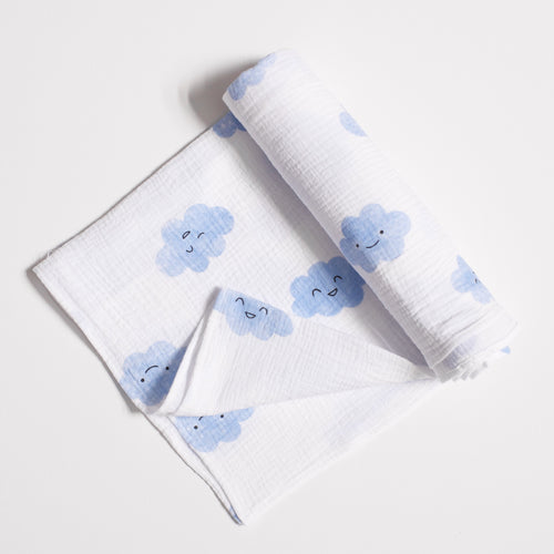 Happy Clouds Swaddle Blanket - Blume Market