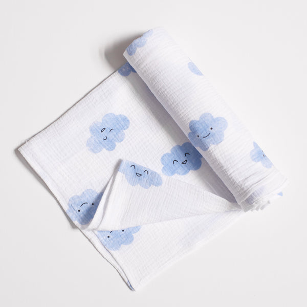 Masek Baby - Happy Clouds Swaddle Blanket
