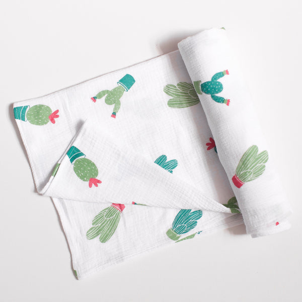 Prickly Cactus Swaddle Blanket - Blume Market
