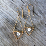 Iah Moonstone Recycled Metal Earrings