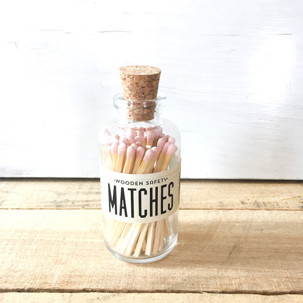 Made Market Co. - Mini Vintage Apothecary Matches - Light Pink