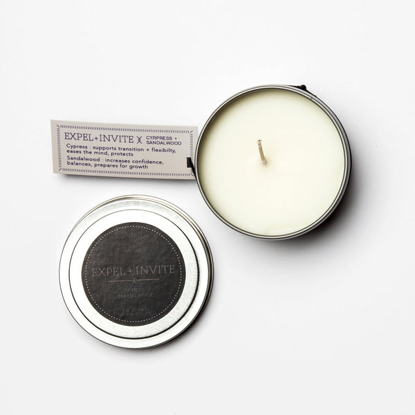 Travel Tin Candles - EXPEL + INVITE