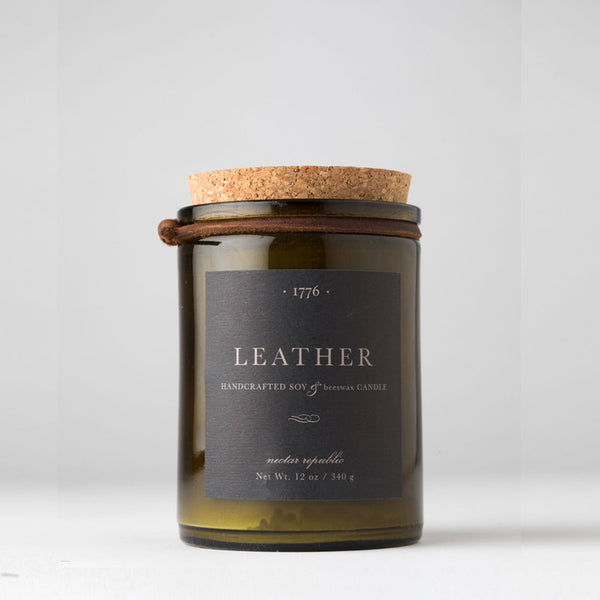 Beeswax Leather Scented Candle - Blume Market