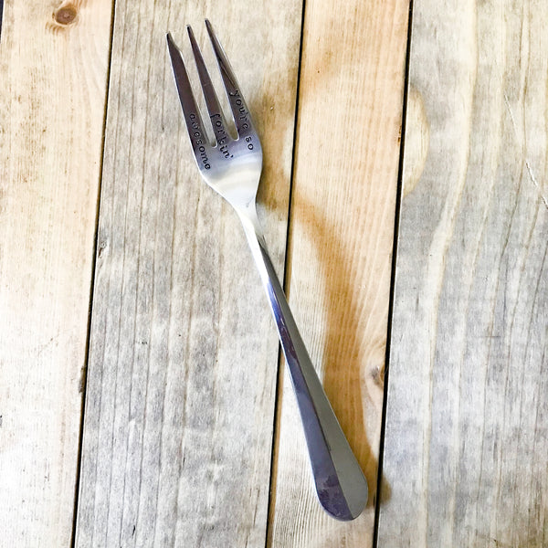 """Forking Awesome"" Upcycled Vintage three prong fork"
