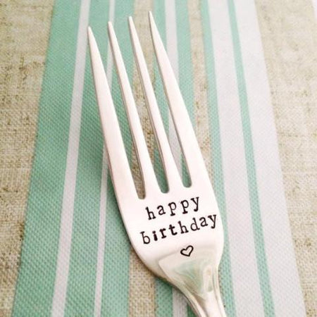 """I DO and ME TOO"" Set of Upcycled Vintage Forks"