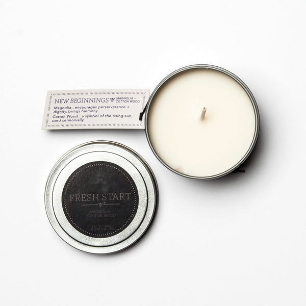 Travel Tin Candles - FRESH START - Blume Market