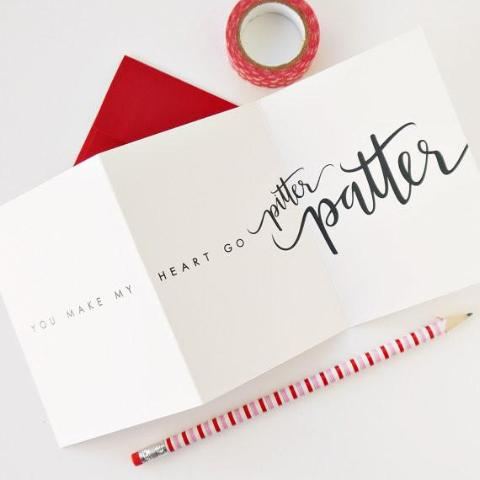 """You Make My Heart Go Pitter Patter"" Greeting Card"