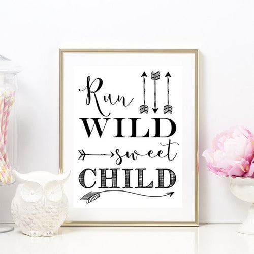 """Run Wild Sweet Child"" Unframed Art Print"
