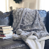 Silverbells Faux Fur Throw Blanket (Adult Size)