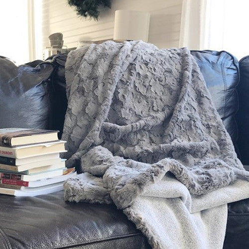 Silverbells Faux Fur Throw Blanket (Adult Size) - Blume Market