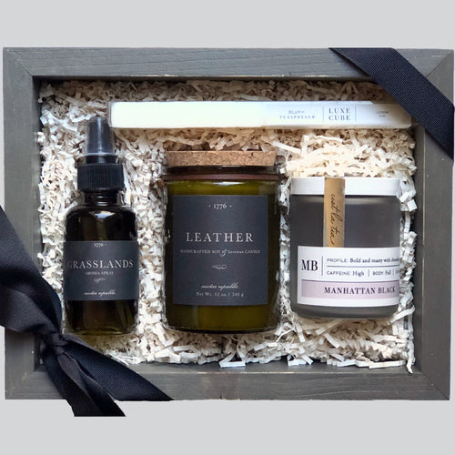 Tea & Leather Gift Box