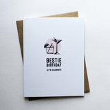 Bestie Birthday Card - Let's Celebrate!