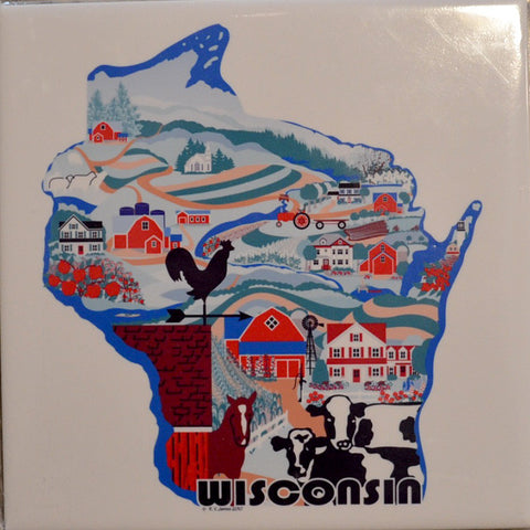 WI Country Sampler 6-inch Ceramic Tile