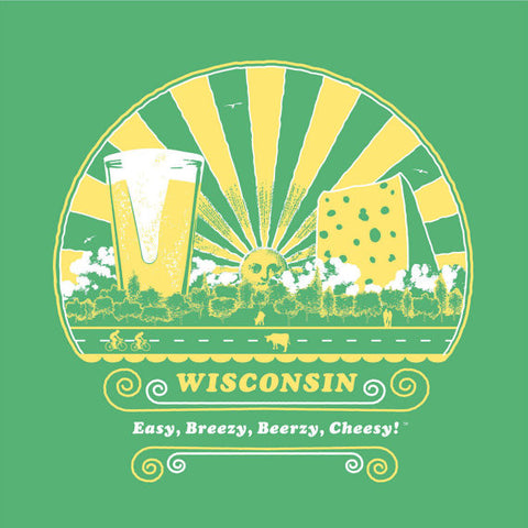 Wisconsin Easy, Breezy, Beerzy Cheesy Mens/Unisex T-shirt