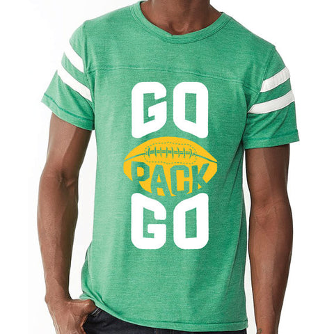 GO PACK GO Retro Football Jersey Mens/Unisex T-Shirt