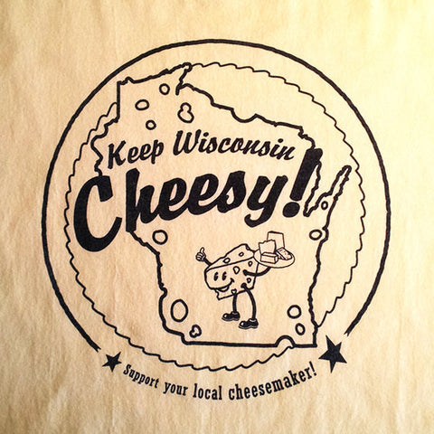 Keep Wisconsin Cheesy Ladies T-shirt [Soft Yellow]