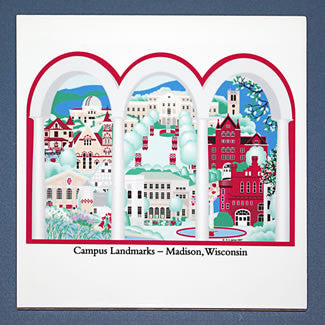 Madison Campus Landmarks 6-inch Ceramic Tile