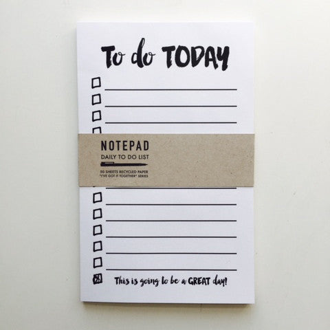 Notepad: Daily To-Do List