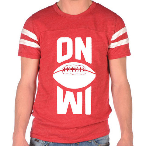 On Wisconsin Retro Football Jersey T-Shirt