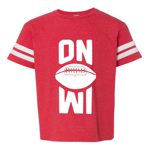 On Wisconsin Youth Football Jersey T-Shirt