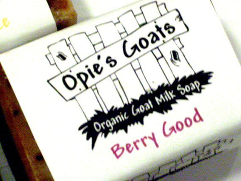 Opie's Goats Berry Good Organic Goat Milk Soap